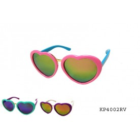 KIDS COLORFUL HEART SUNGLASSES
