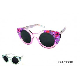 GIRLS' ROUND CATEYE WITH PRINTED TEMPLES