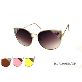 **FLAT LENS** CATEYE COLORED LENS SUNGLASSES