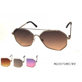 **FLAT LENS** COLORED MIRROR SUNGLASSES