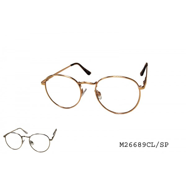 CLASSIC ROUND CLEAR LENS SUNGLASS