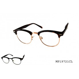 HORN RIMMED CLEAR LENS GLASS