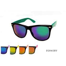 FASHION COLORED MIRROR SUNGLASSES