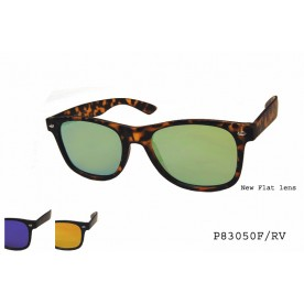 **FLAT LENS** COLOR MIRROR SUNGLASSES