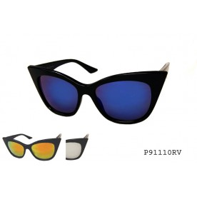 LADIES FASHION CATEYE MIRROR LENS SUNGLASS