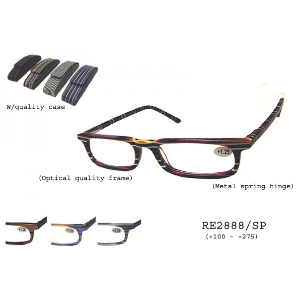 be1b200790b Wholesale Optical Quality Stripe Reader With Case Sunglasses