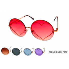 **ROUND COLORED LENS** FASHION SUNGLASSES